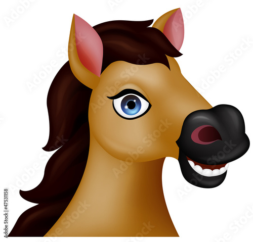 Horse head cartoon