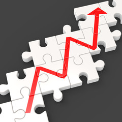 Profit Line Puzzle Shows Increased Financial Target