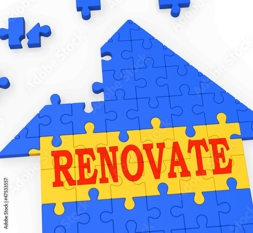 Renovate House Means Improve And Construct