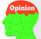 Opinion Mind Shows Feedback Surveying And Popularity