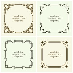 Decorative text frames