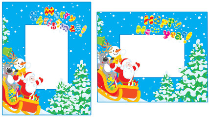Christmas and New Year borders