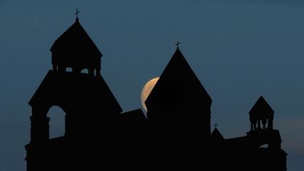 Armenia monastery of St.Echmiadzin moongliding