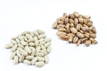 borlotti e cannellini - pinto beans and white beans