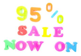 95% sale now on written in fridge magnets