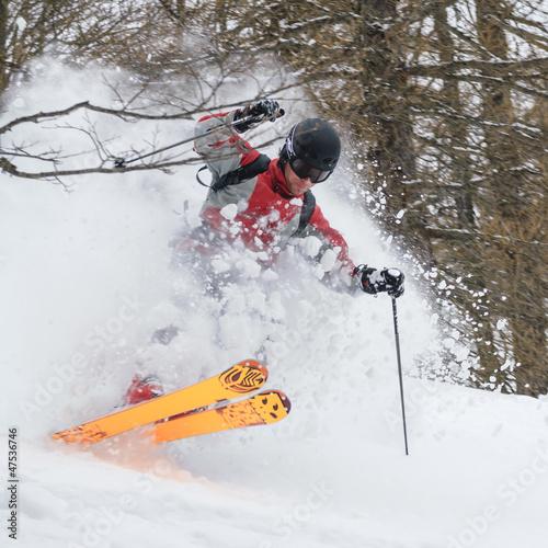spektakulär skifahren im Gelände