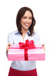Young Woman Giving Present