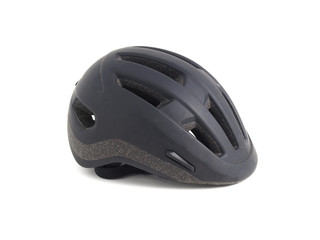 Black helmet on white