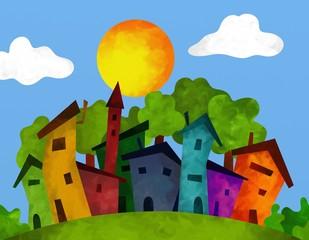 villaggio in estate