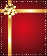 Gift or special offer background with golden bow.