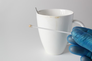DNA -Spur an Tasse Forensic