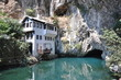 House at a beautiful lake with a cave