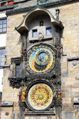 Astronomical clock on Staromestska Square, Prague