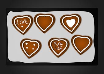 Biscotti San Valentino vector