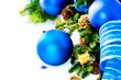 Christmas and New Year Blue Baubles And Decoration