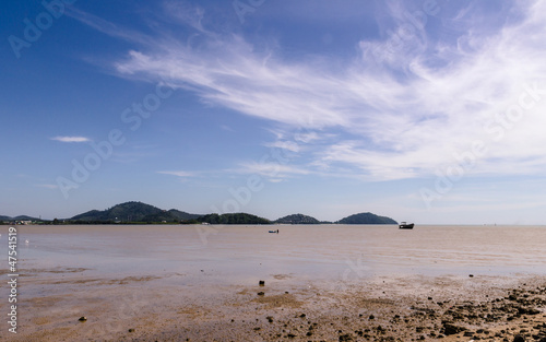 Low tide beach at late morning, Sapaanhin, Phuket, Thailand