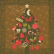 Advent Christmas Tree Greeting Card Background