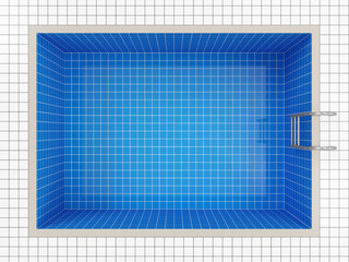 Empty Swimming Pool Top View