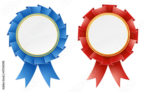 Red and blue rosettes