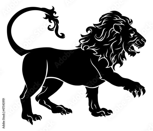 Stylised Lion illustration