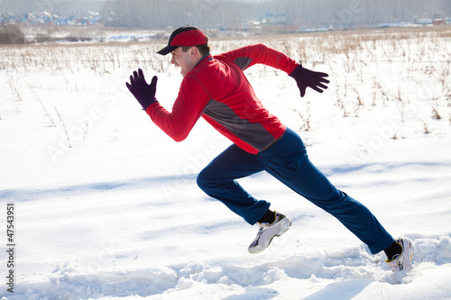 jogging in winter