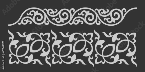 Floral ornament. Vector image of decorative elements/pannerns