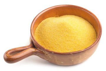 bowl with cornmeal