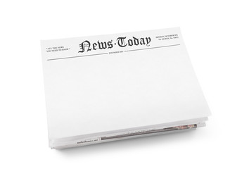 Blank newspaper with headline