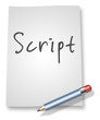 "Paper & Pencil Illustration ""Script"""