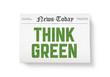 Think green headline