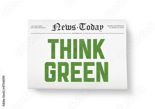 Think green headline