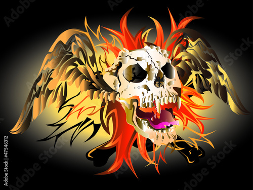 fire skull danger