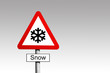 Snow Warning Sign