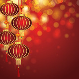 Fototapety Chinese New Year Lanterns
