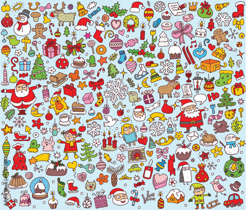 Big Christmas Collection of small illustrations