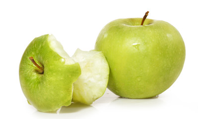 Manzana mordida.