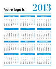 caLENDARIO BASIC FRANCE VERTICAL 2013