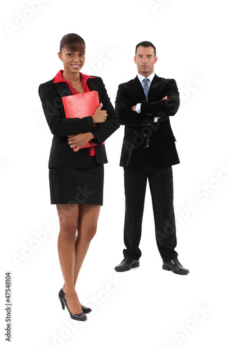 Ambitious young business couple