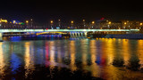night illumination of Novoarbatsky bridge in Moscow