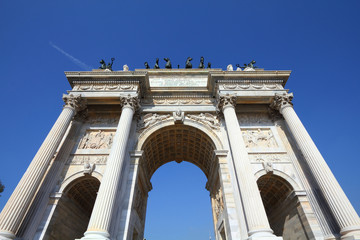 Milan - Arch of Peace at Sempione square