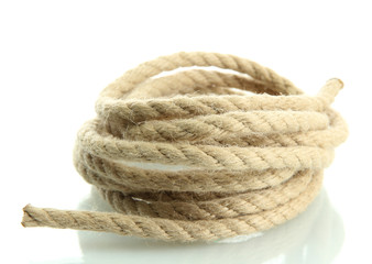 roll of rope, isolated on white
