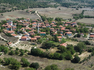 kuş bakışı köy