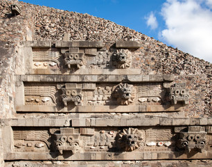 Feathered Serpent Pyramid at Teotihuacan