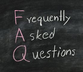 FAQ on blackboard.