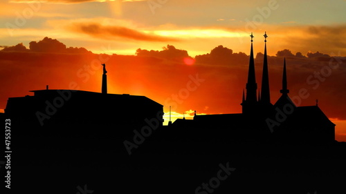 Luxembourg skyline sunrise