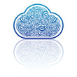 Cloud computing design ,vector
