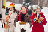 women during  Shrovetide  in Russia
