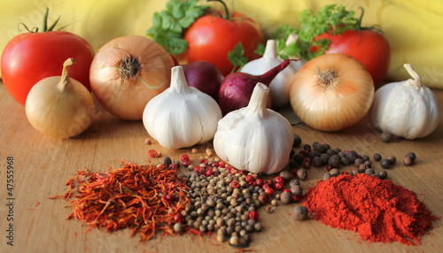 Herbs, spices and vegetables