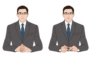 ミーティング中のビジネスマン