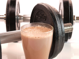 Fitness drink with heavy weights